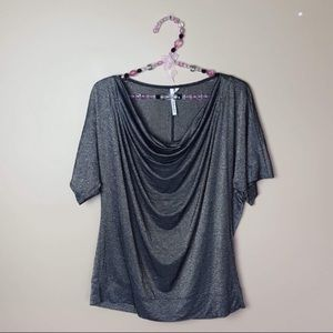 Michael stars scoop short sleeve blouse one size